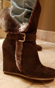 Boston proper cozy wedge ankle boots size 8